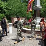 Honor guard arrives