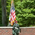Color guard from Ft Bragg enters the Memorial grounds