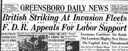Front page headline: British Striking at Invasion Fleets