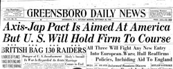 Front page headline: Axis-Jap Pact is Aimed at America