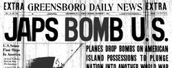Front page headline: Japs Bomb US