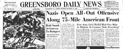 Front page headline: Nazis Open All-out Offensive