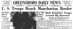 Front page headline: US Troops Reach Manchurian Border