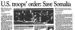 Front page headline: US Troops' Order