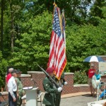 Honor Guard hold colors at Memorial event