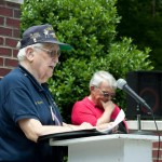 Veteran takes podium at Memorial Event