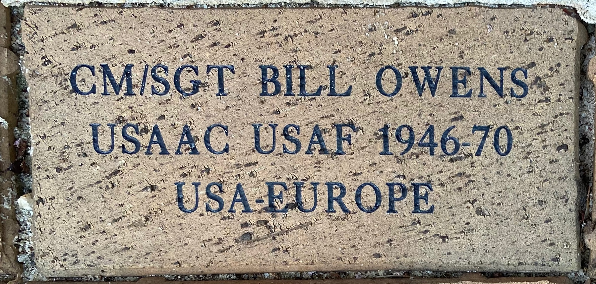 CM/SGT BILL OWENS USAAC USAF 1946-70 USA-EUROPE