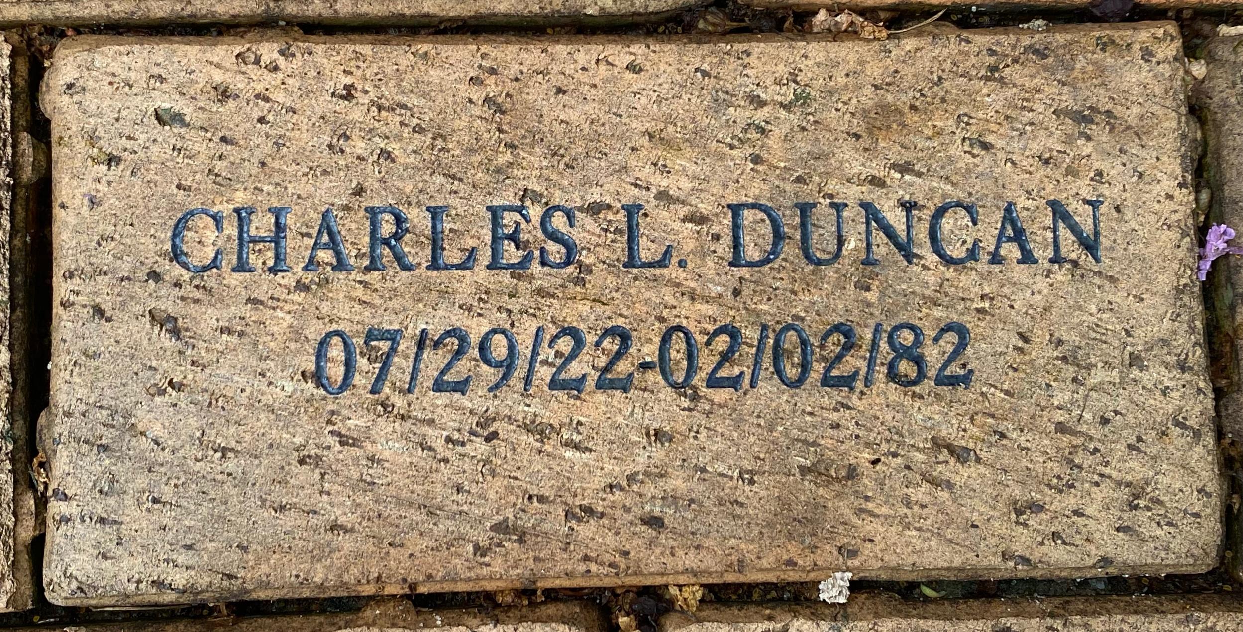 CHARLES L. DUNCAN 07/29/22 – 02/02/82