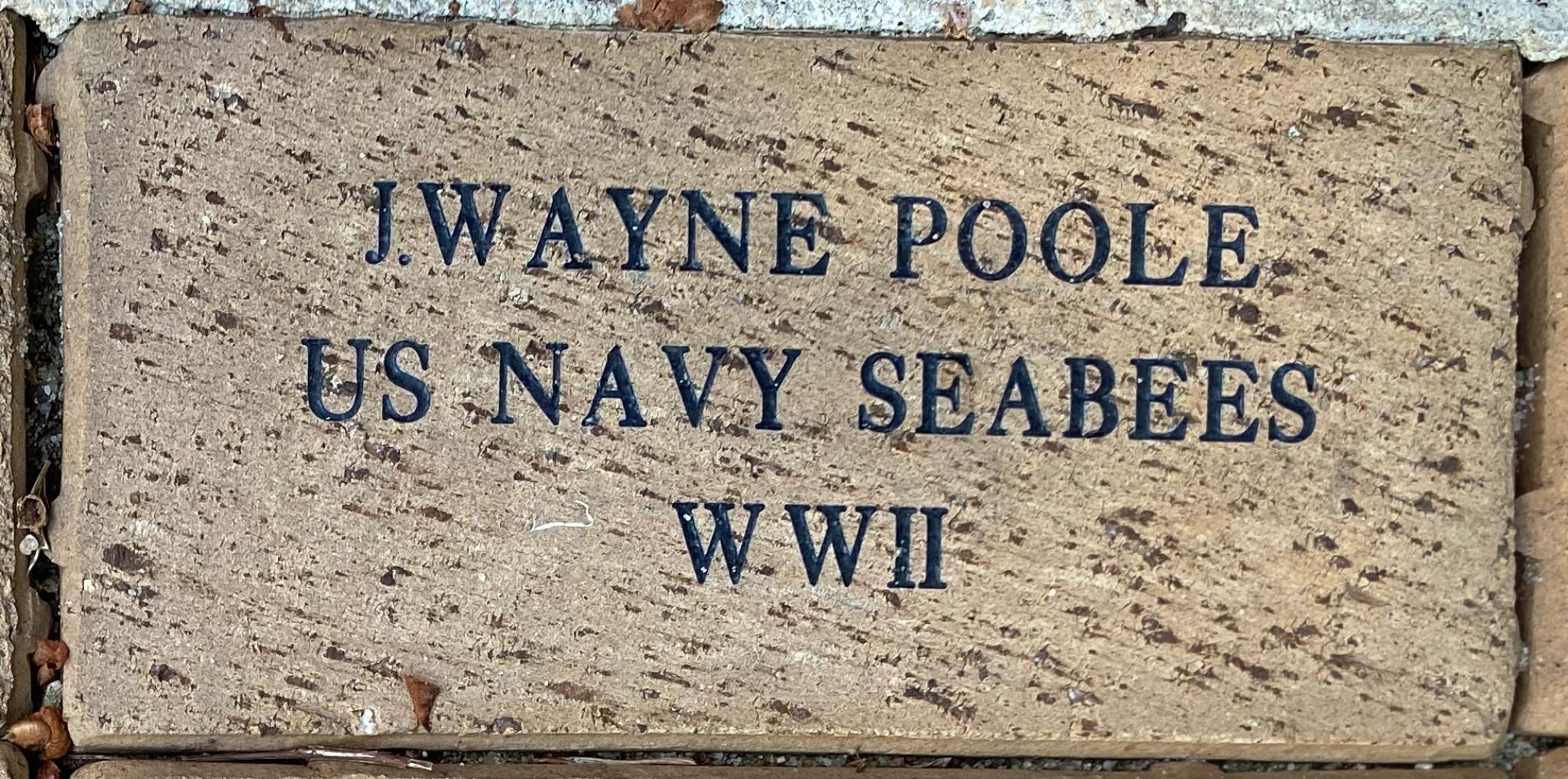 J. WAYNE POOLE US NAVY SEABEES WWII