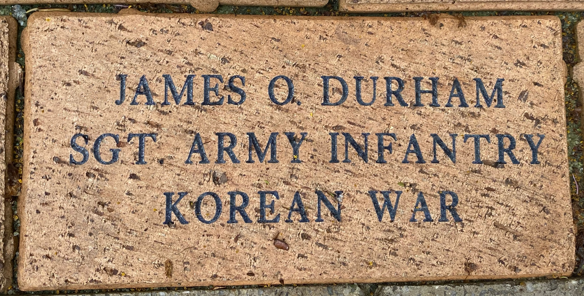 JAMES O. DURHAM SGT. ARMY INFANTRY KOREAN WAR