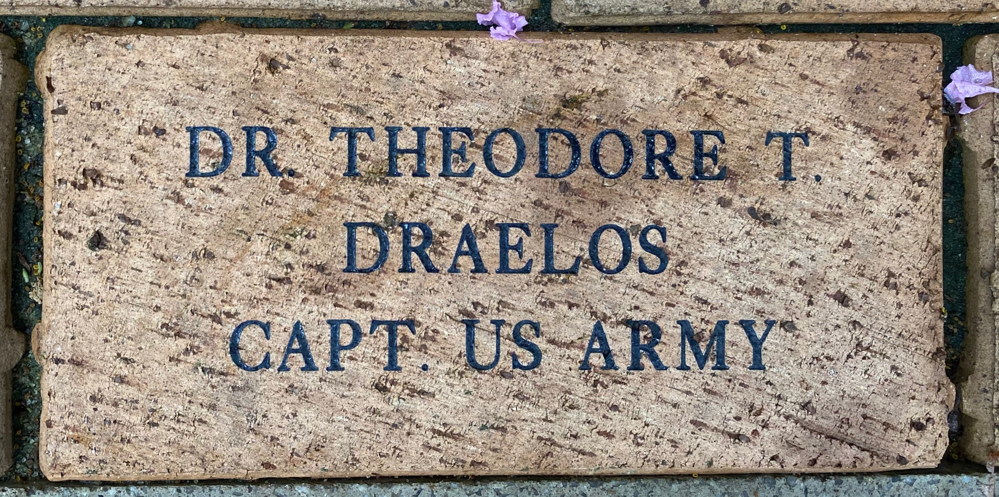 DR. THEODORE T. DRAELOS CAPT. US ARMY