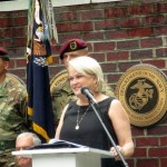 Col. Jettaka Gammon, Ret. speaking at the Guilford County Veterans Memorial