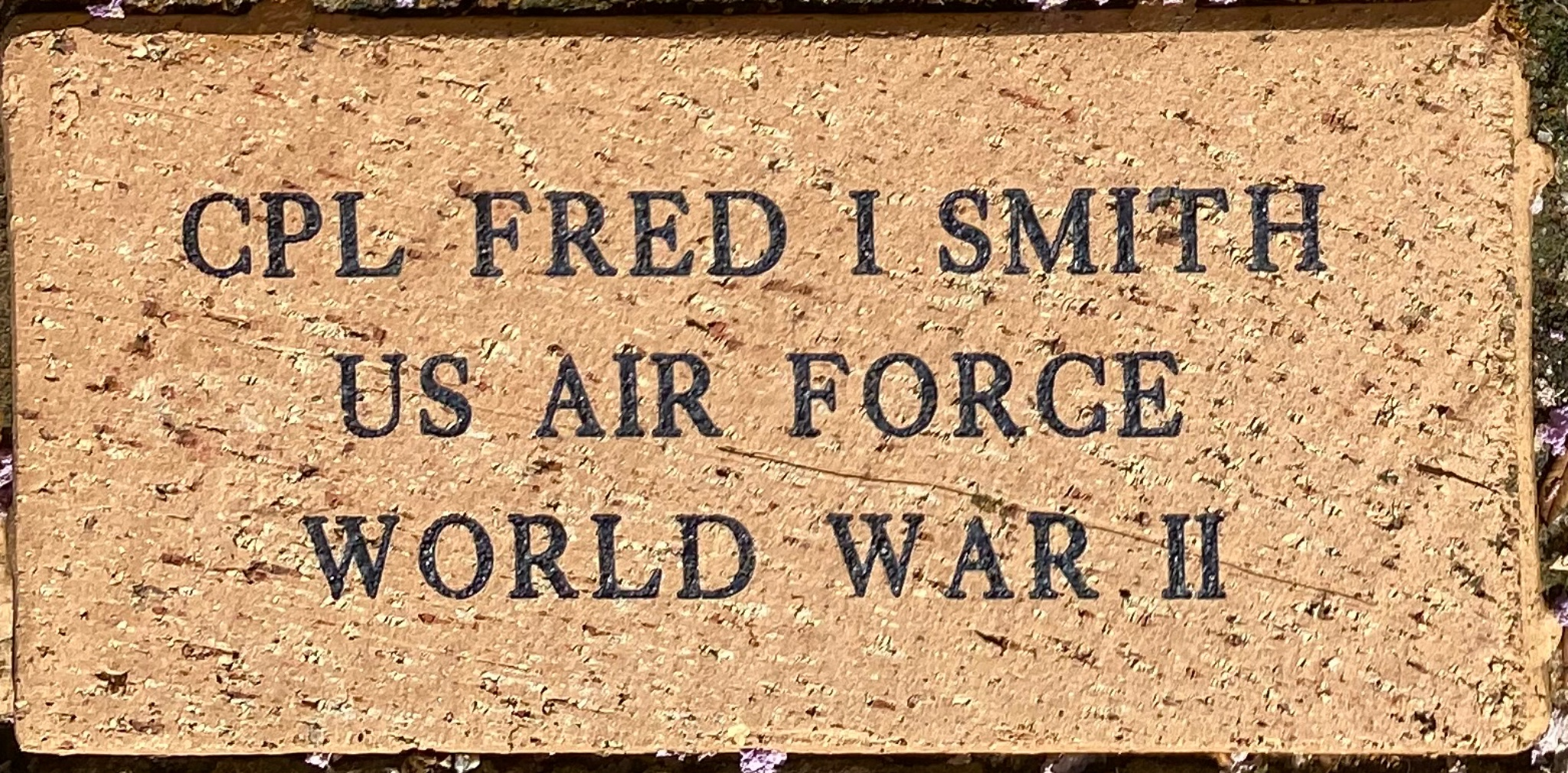 CPL FRED I SMITH US AIR FORCE WORLD WAR II