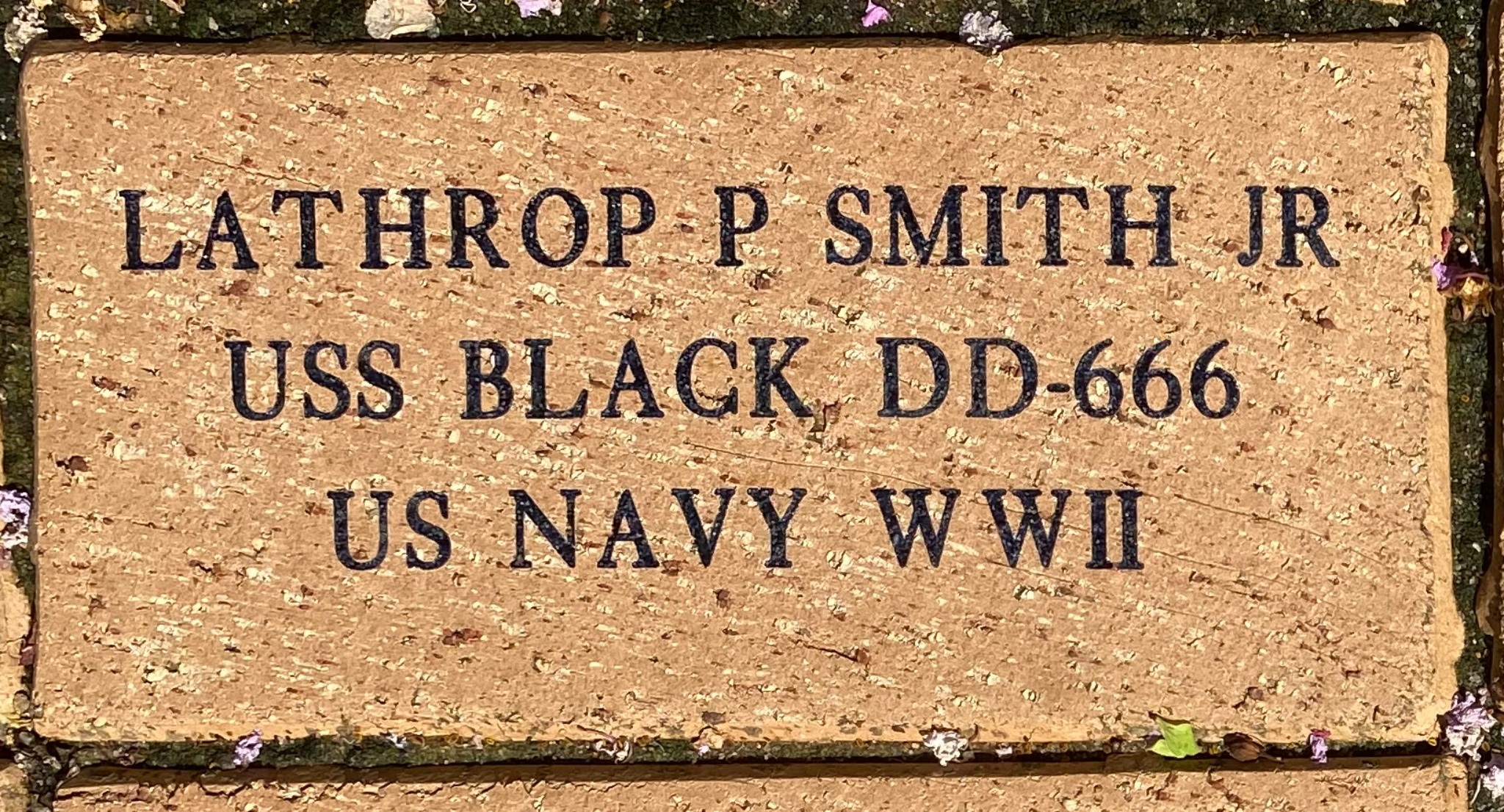 LATHROP P SMITH JR USS BLACK DD-666 US NAVY WWII