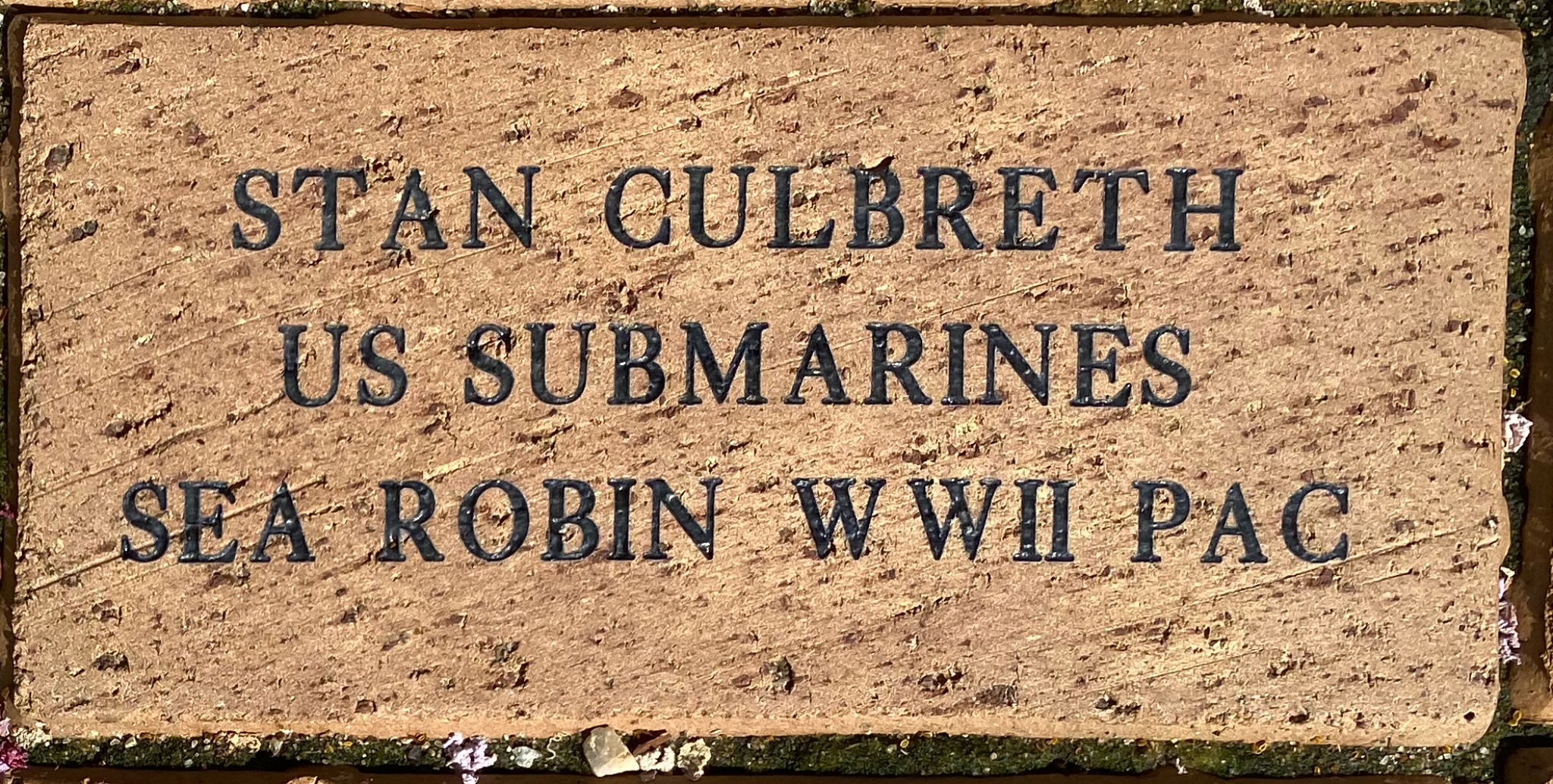 STAN CULBRETH US SUBMARINES SEA ROBIN WWII PAC