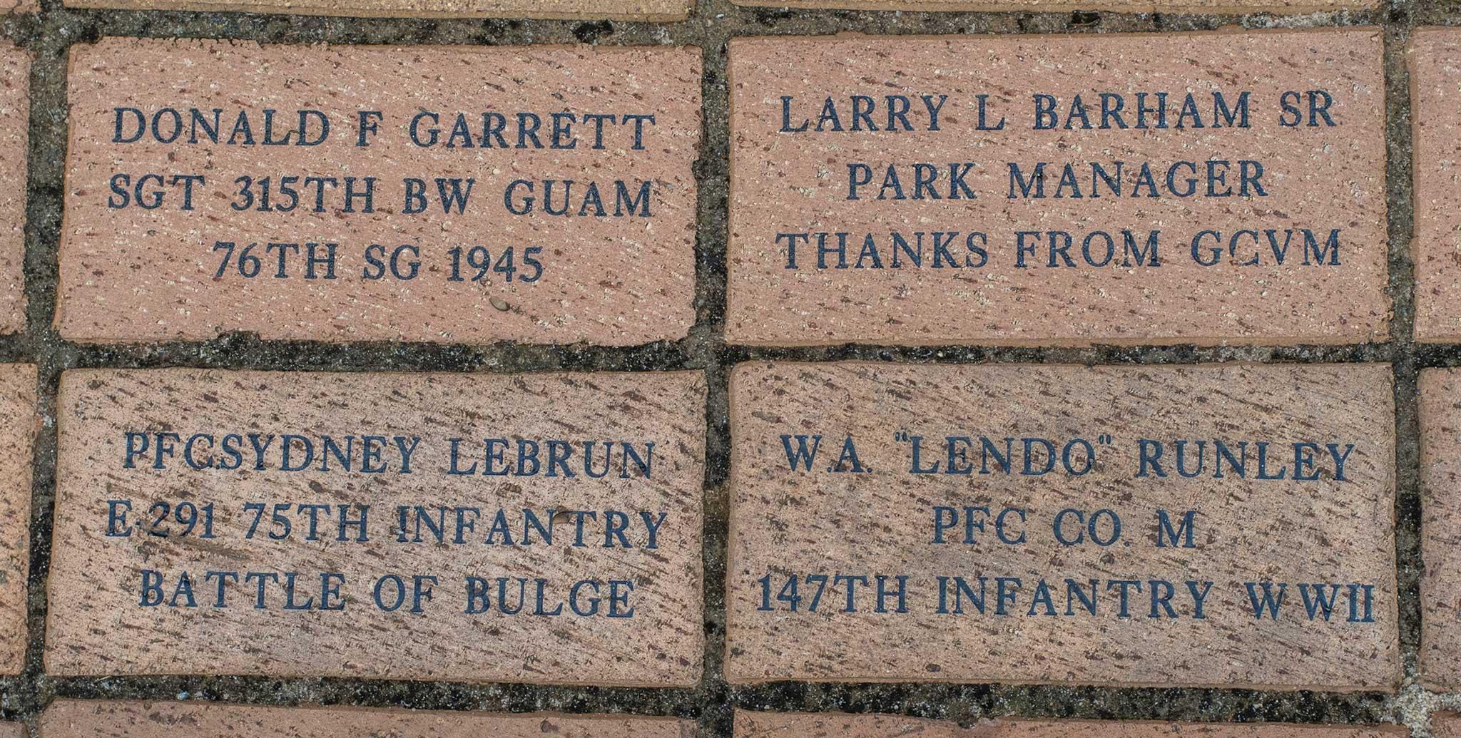 LARRY L BARHAM SR PARK MANAGER THANKS FROM GCVM