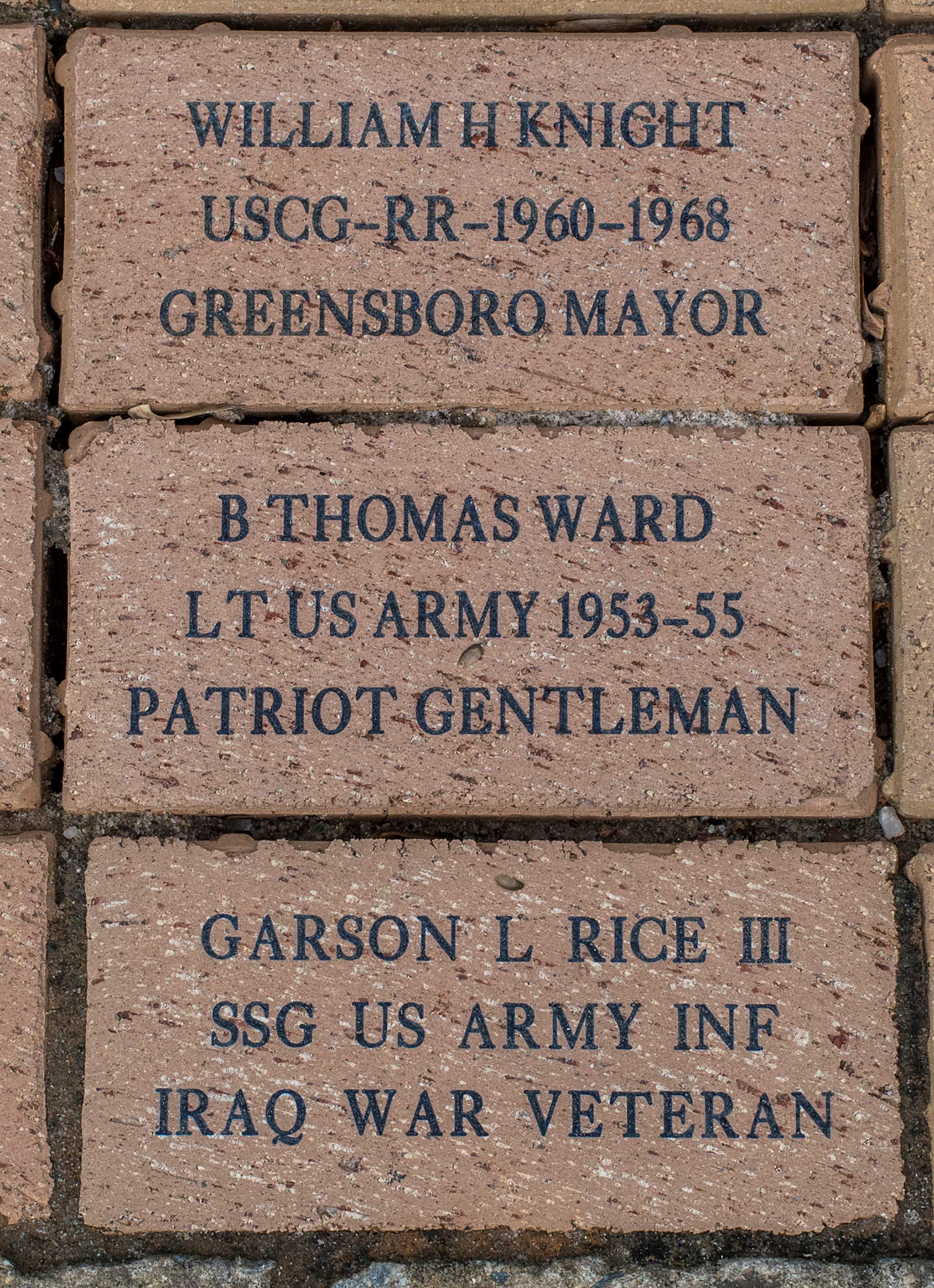B THOMAS WARD LT US ARMY 1953-55 PATRIOT GENTLEMAN