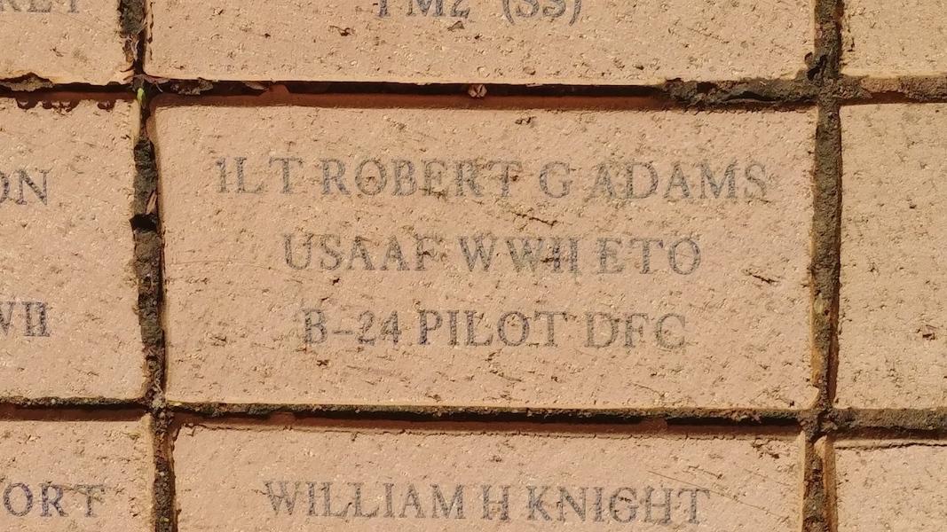 1LT Robert G Adams USAAF WWII ETO B-24 Pilot DFC