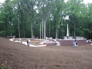 Early construction of the Guilford County Veterans' Memorial