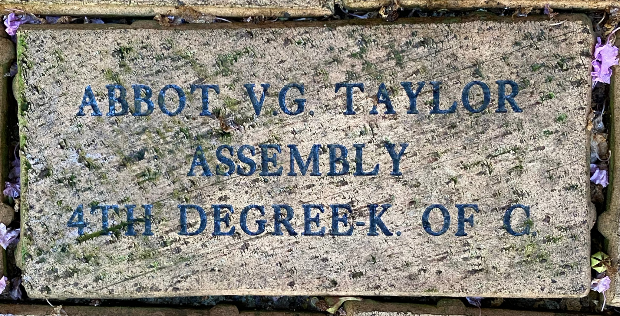 ABBOT V.G. TAYLOR ASSEMBLY 4TH DEGREE-K.OF C.