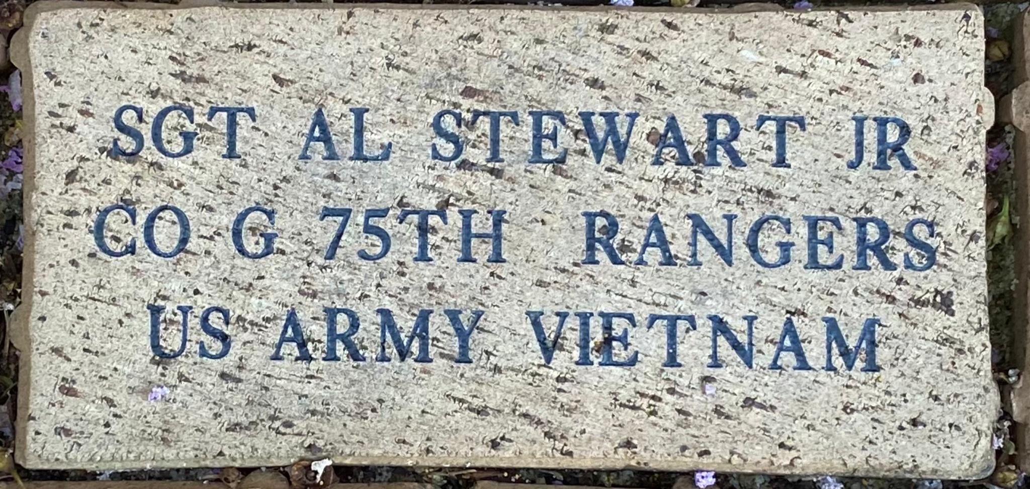 SGT AL STEWART JR CO G 75TH RANGERS US ARMY VIETNAM