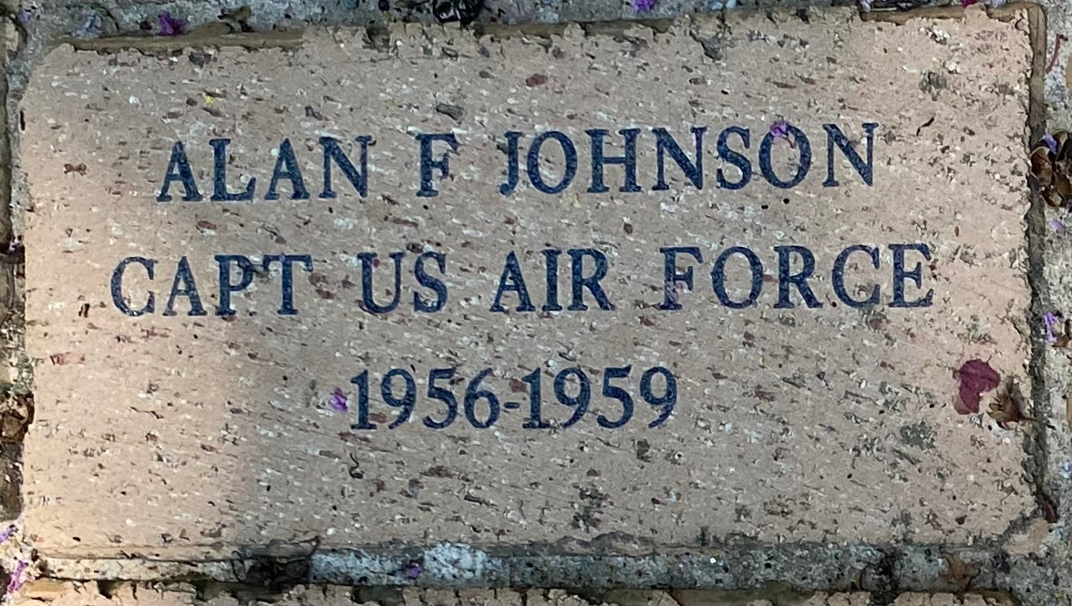 ALAN F JOHNSON CAPT US AIR FORCE 1956-1959