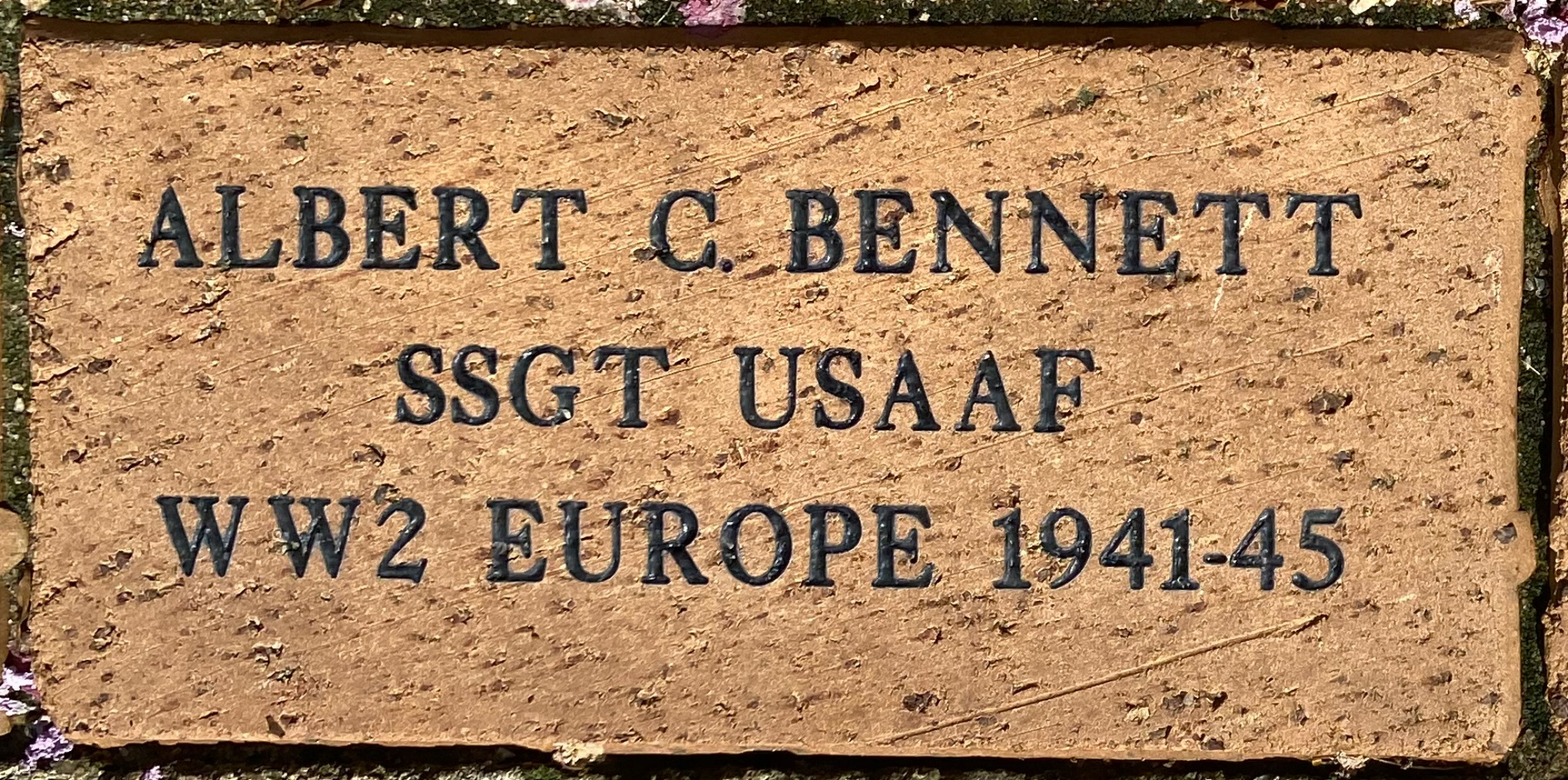 ALBERT C. BENNETT SSGT USAAF WW2 EUROPE 1941-1945