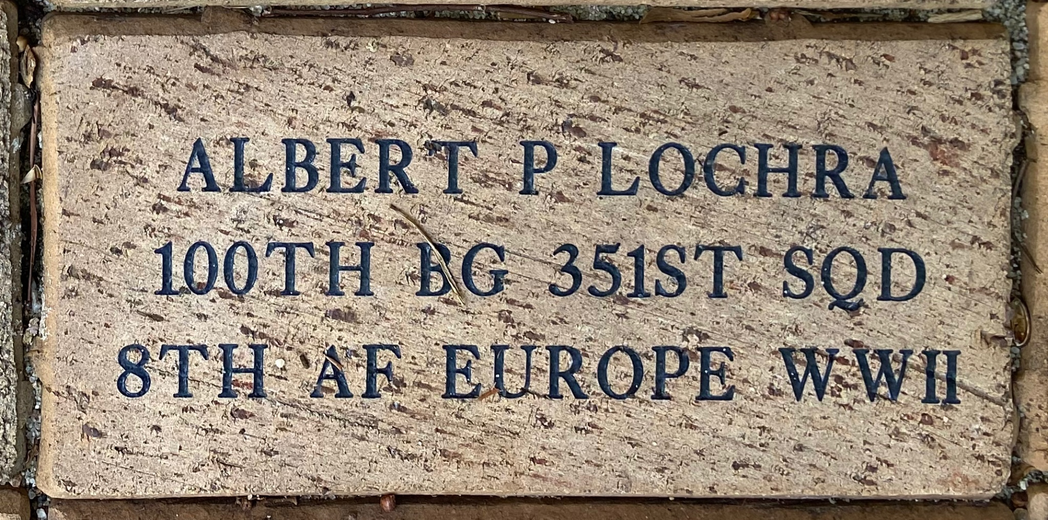 ALBERT P LOCHRA 100TH BG 351ST SQD 8TH AF EUROPE WWII