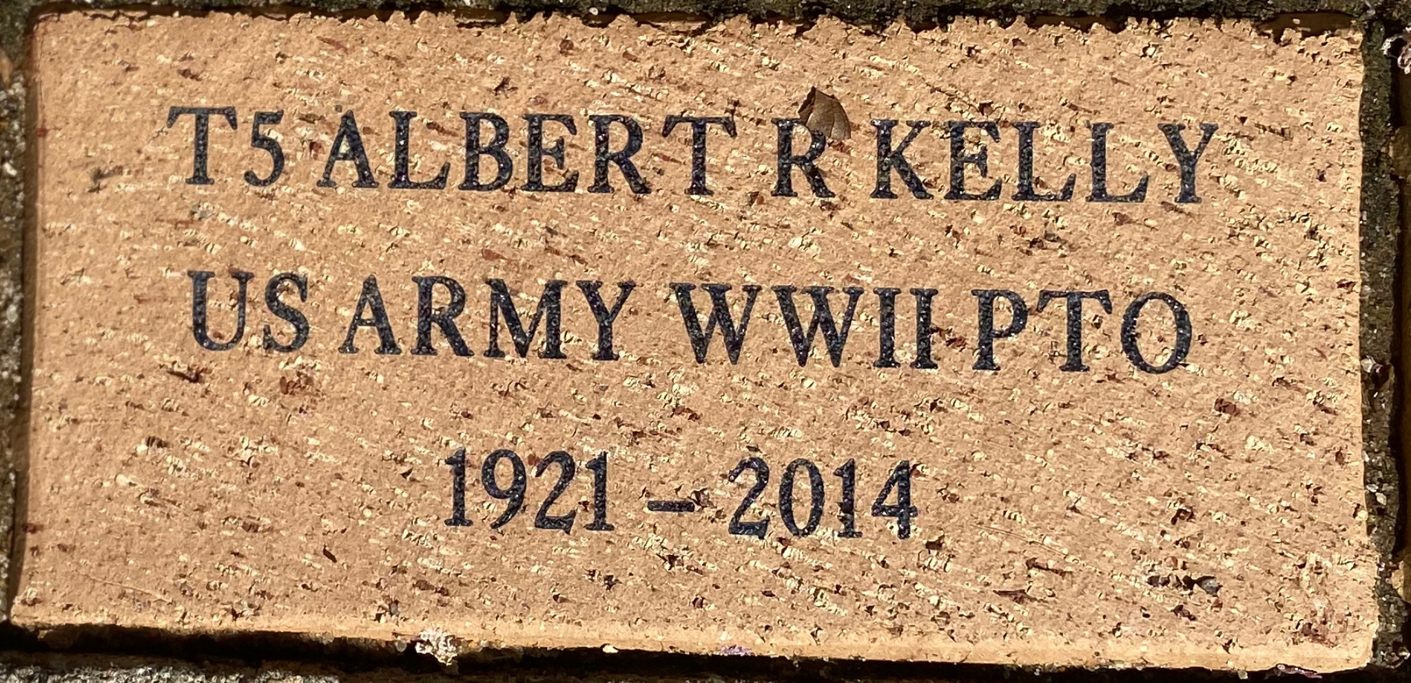T5 Albert R Kelly US Army WWII PTO 1921-2014