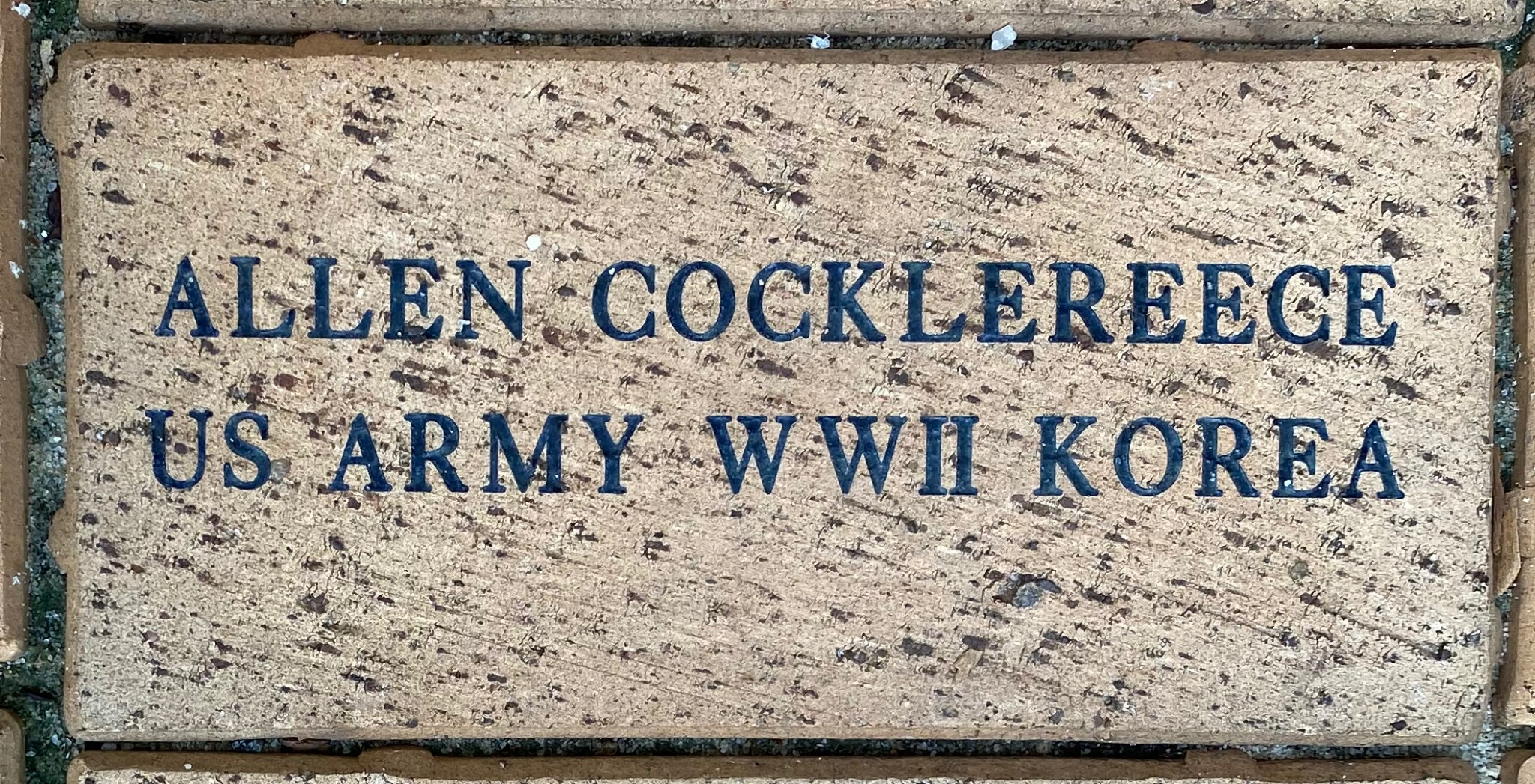 ALLEN COCKLEREECE US ARMY WWII KOREA