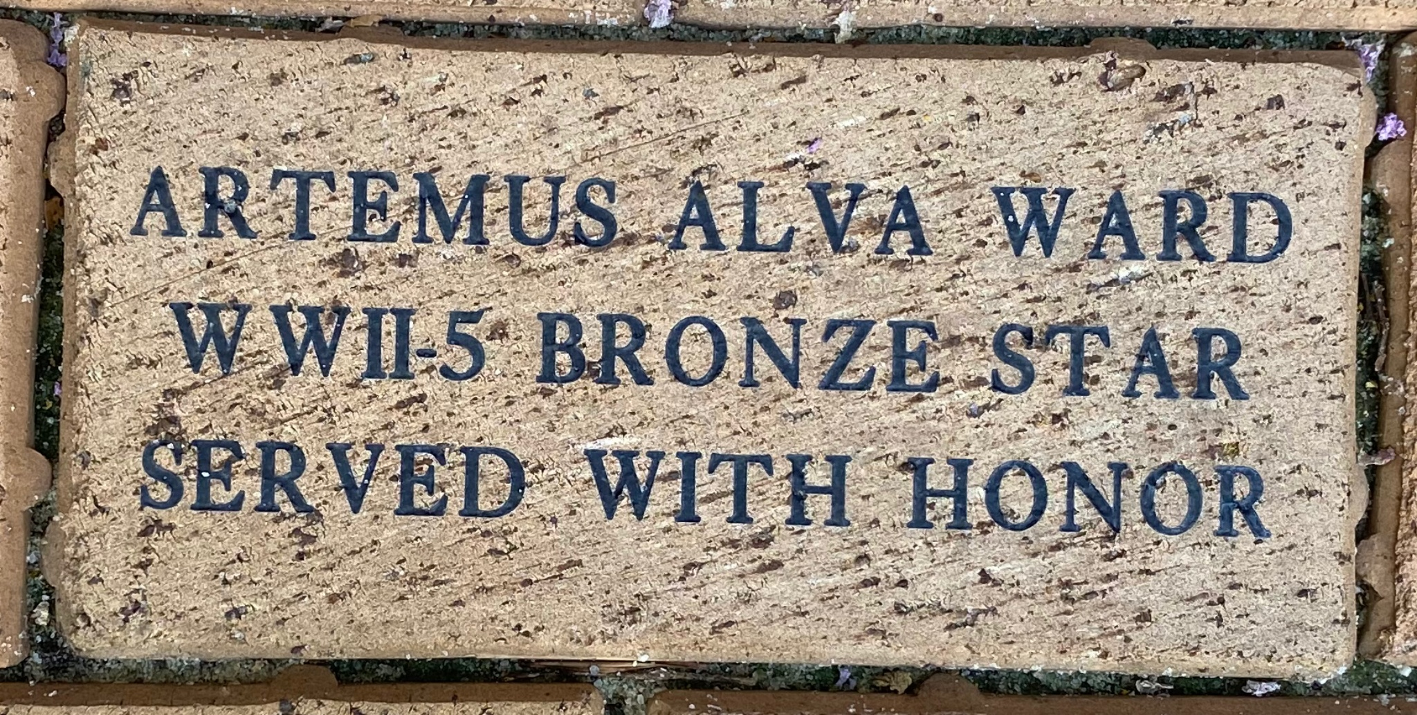 ARTEMUS ALVA WARD WWII-5 BRONZE STARS SERVED WITH HONOR