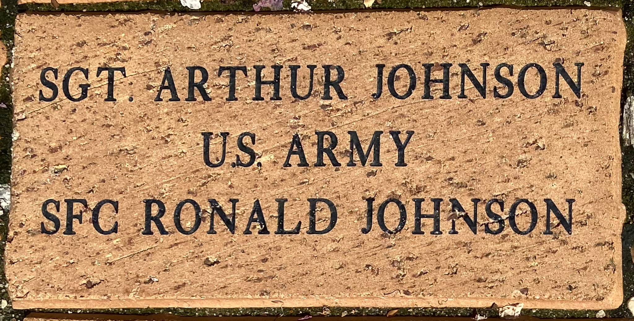 SGT ARTHUR JOHNSON U.S. ARMY SFC RONALD JOHNSON