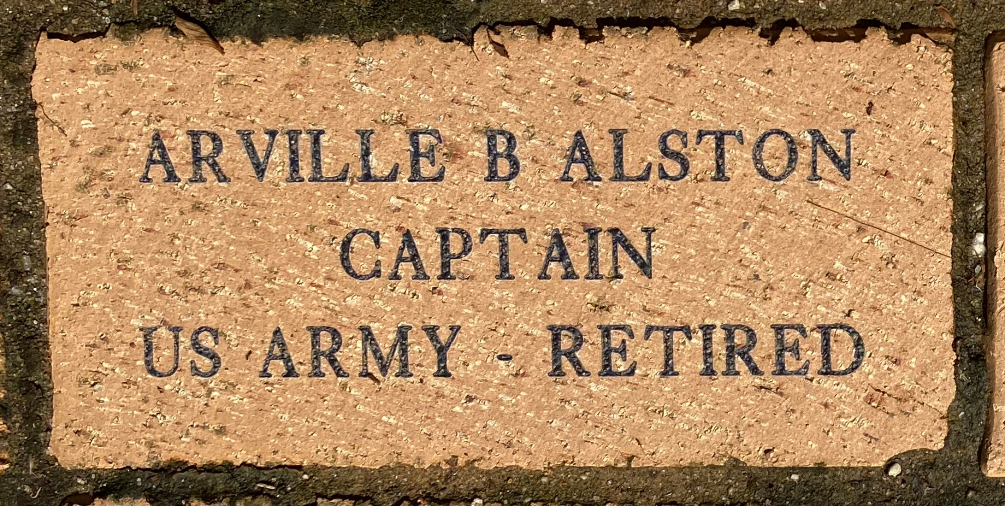 ARVILLE B ALSTON CAPTAIN US ARMY – RETIRED