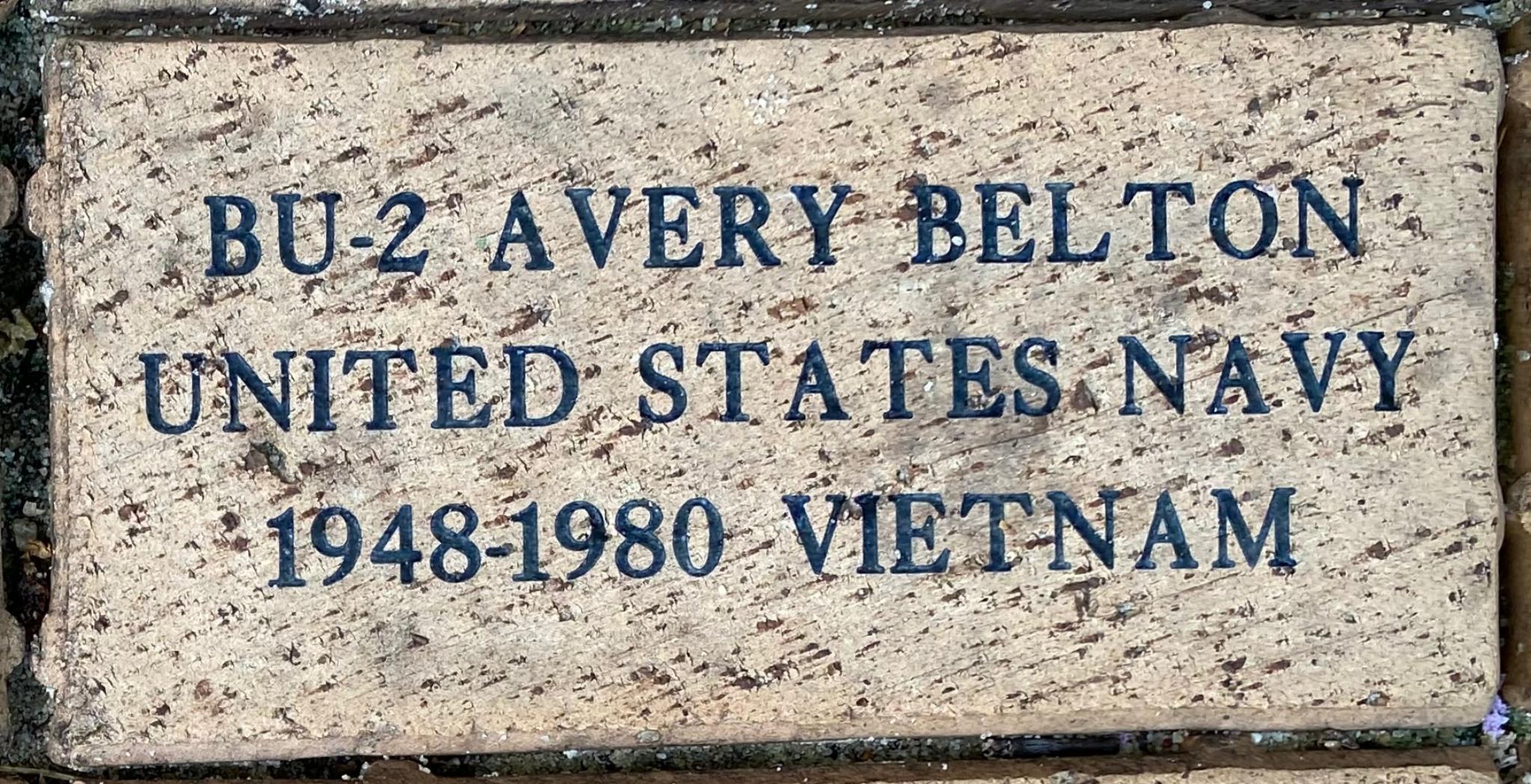 BU-2 AVERY BELTON UNITED STATES NAVY 1948-1980 VIETNAM