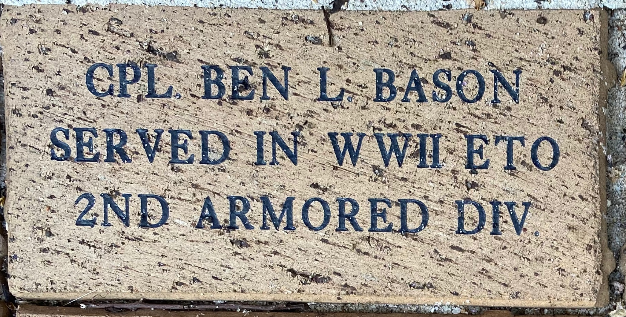 CPL BEN L. BASON SERVED IN WWII ETO 2ND ARMORED DIV