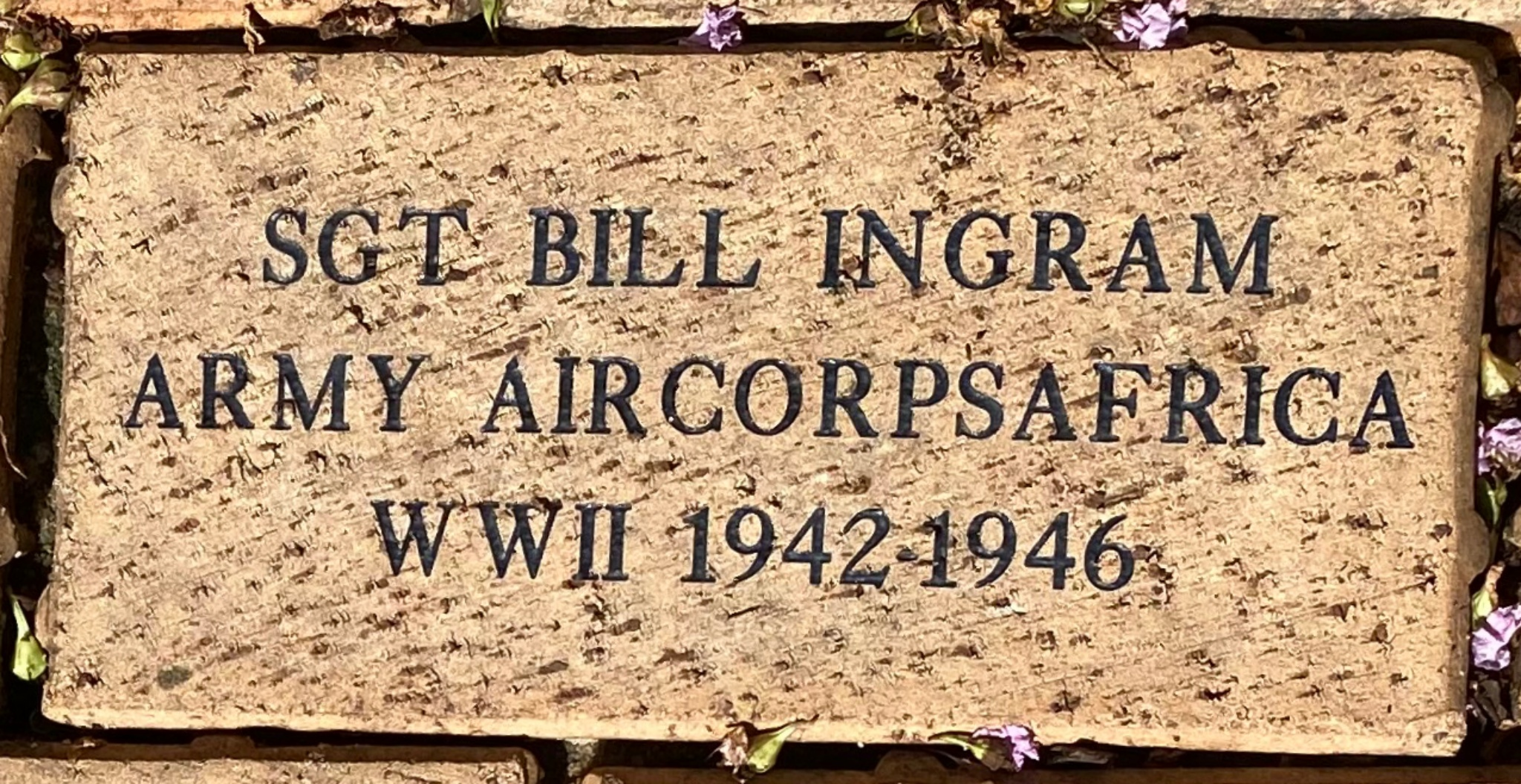 SGT BILL INGRAM ARMY AIRCORPSAFRICA WWII 1942-1946