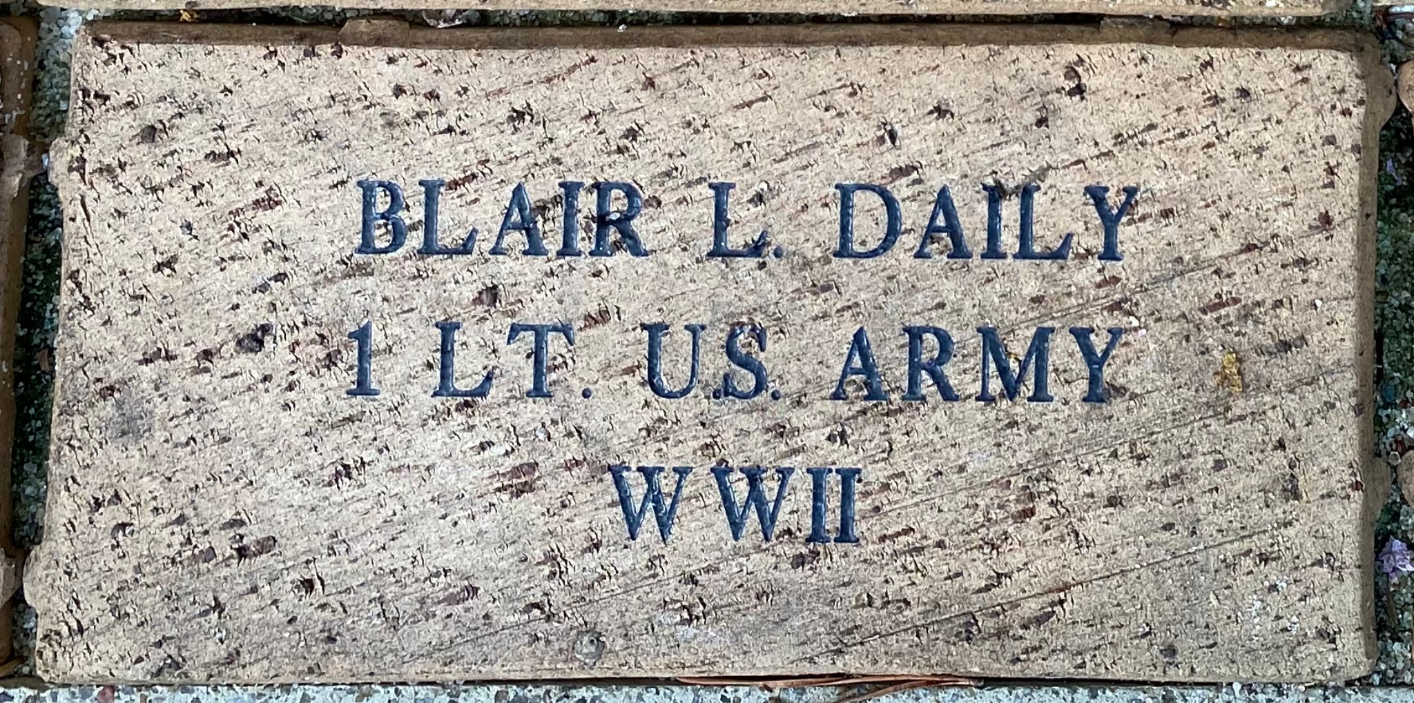 BLAIR L. DAILY 1 LT U.S. ARMY WWII