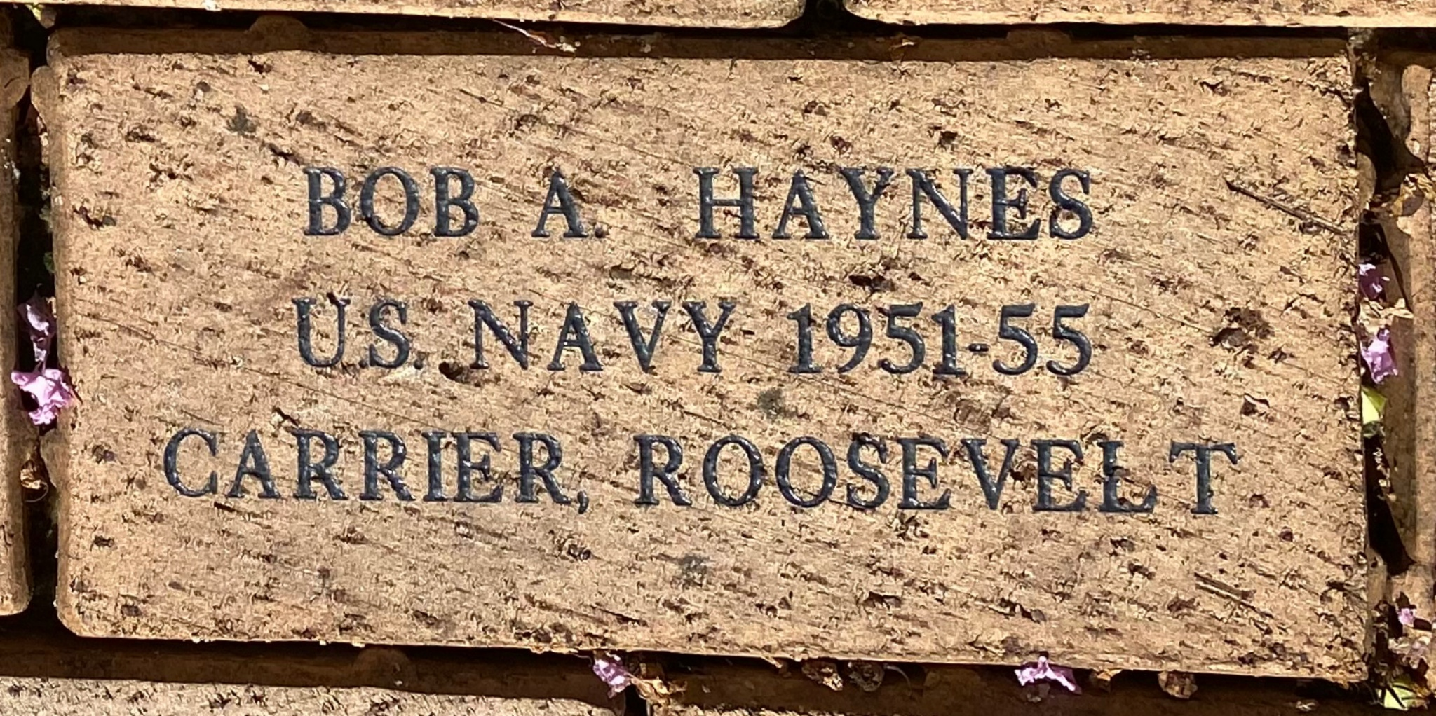 BOB A. HAYNES U.S. NAVY 1951-55 CARRIER, ROOSEVELT