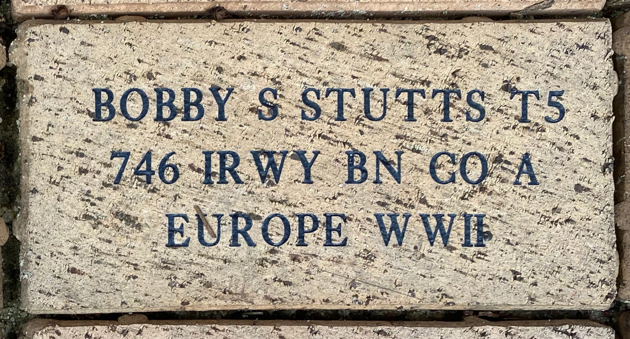 BOBBY S STUTTS T5 746 RWY BN CO A EUROPE WWII