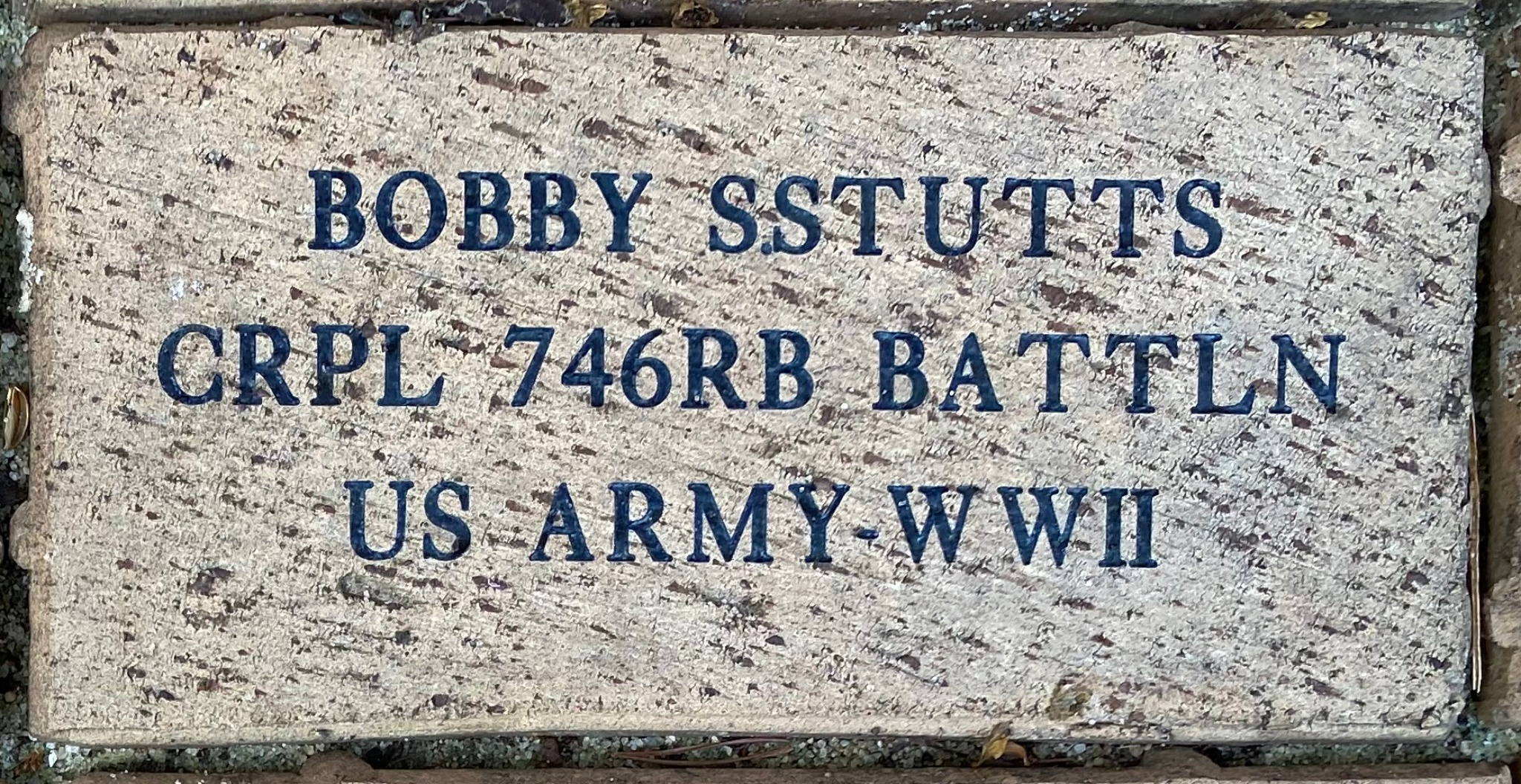BOBBY S.STUTTS CRPL 746RB BATTLN US ARMY-WWII