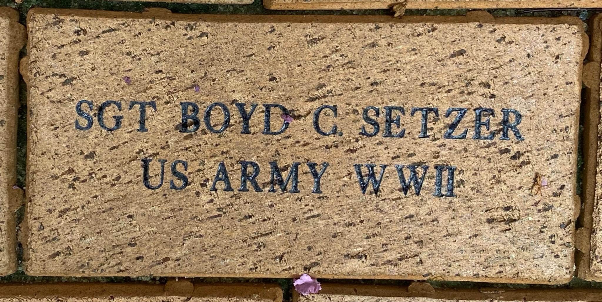 SGT BOYD C. SETZER US ARMY WWII