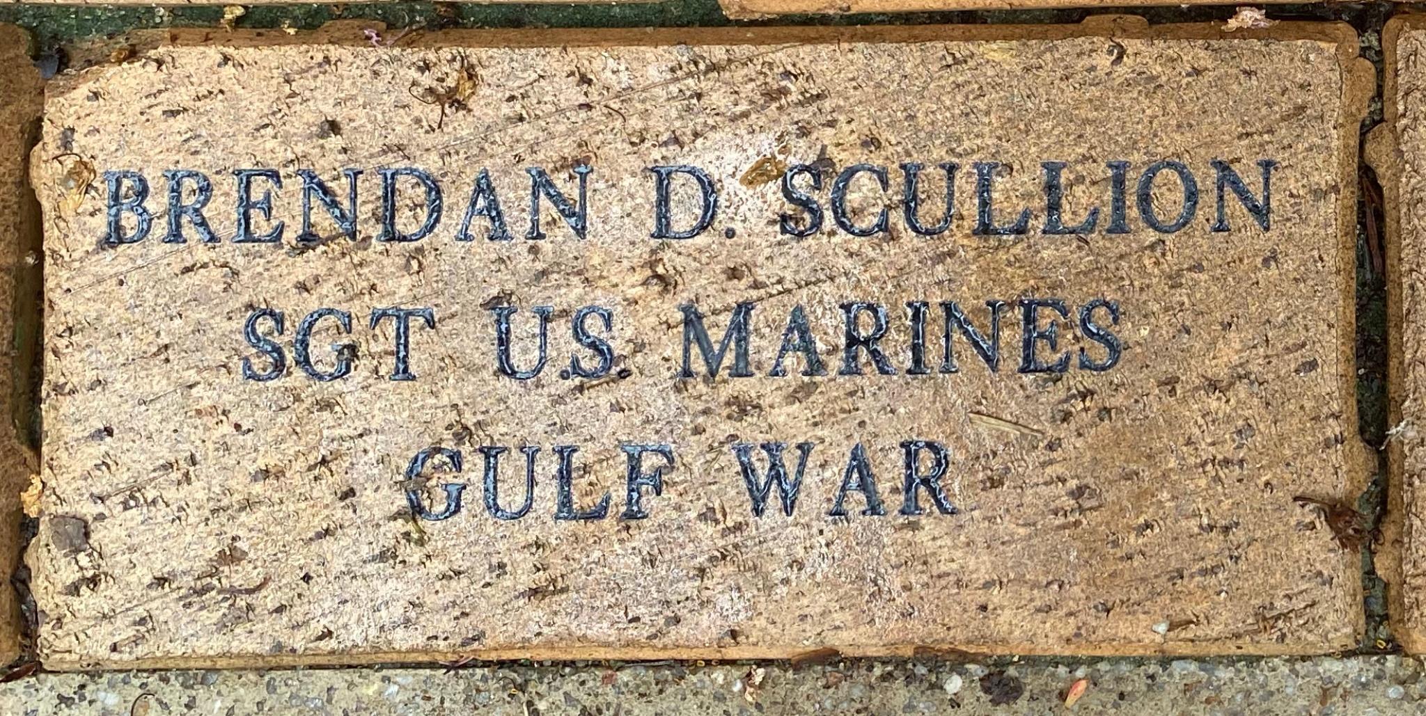 BRENDAN D. SCULLION SGT U.S. MARINES GULF WAR