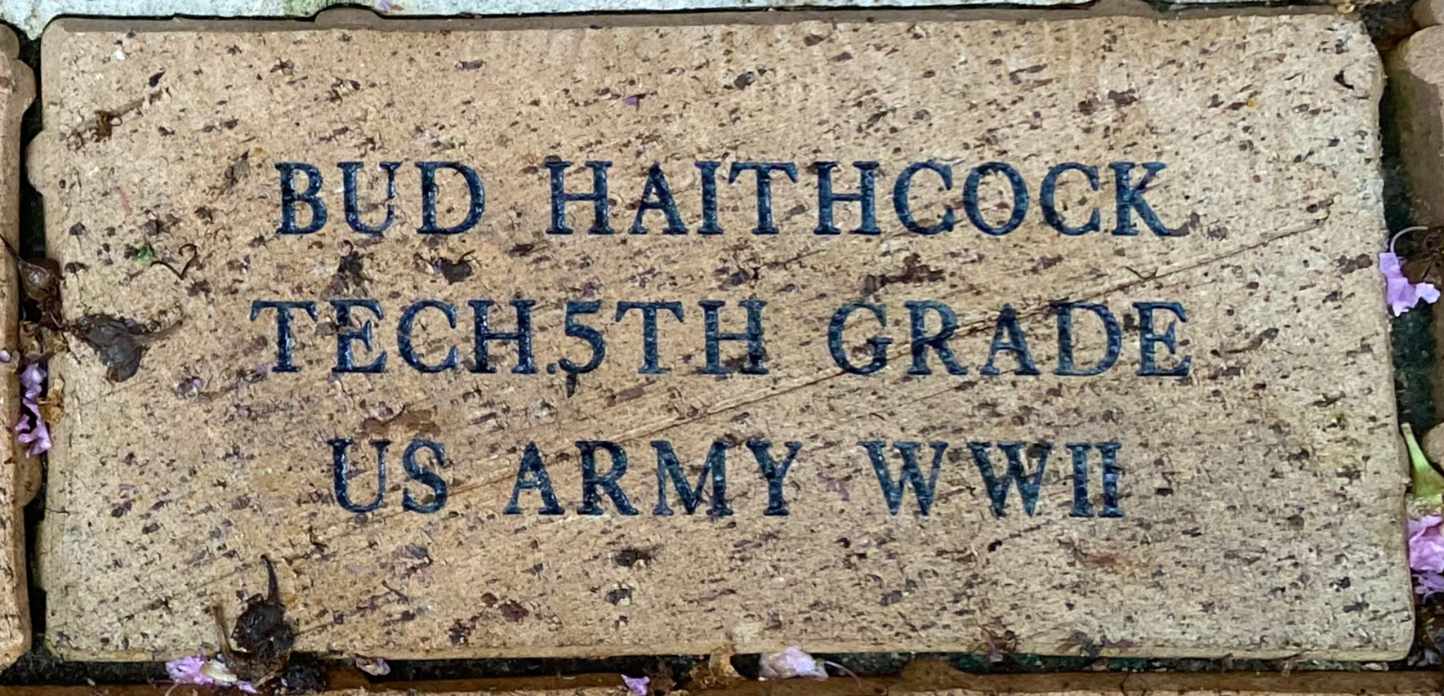 BUD HAITHCOCK TECH 5TH GRADE US ARMY WWII
