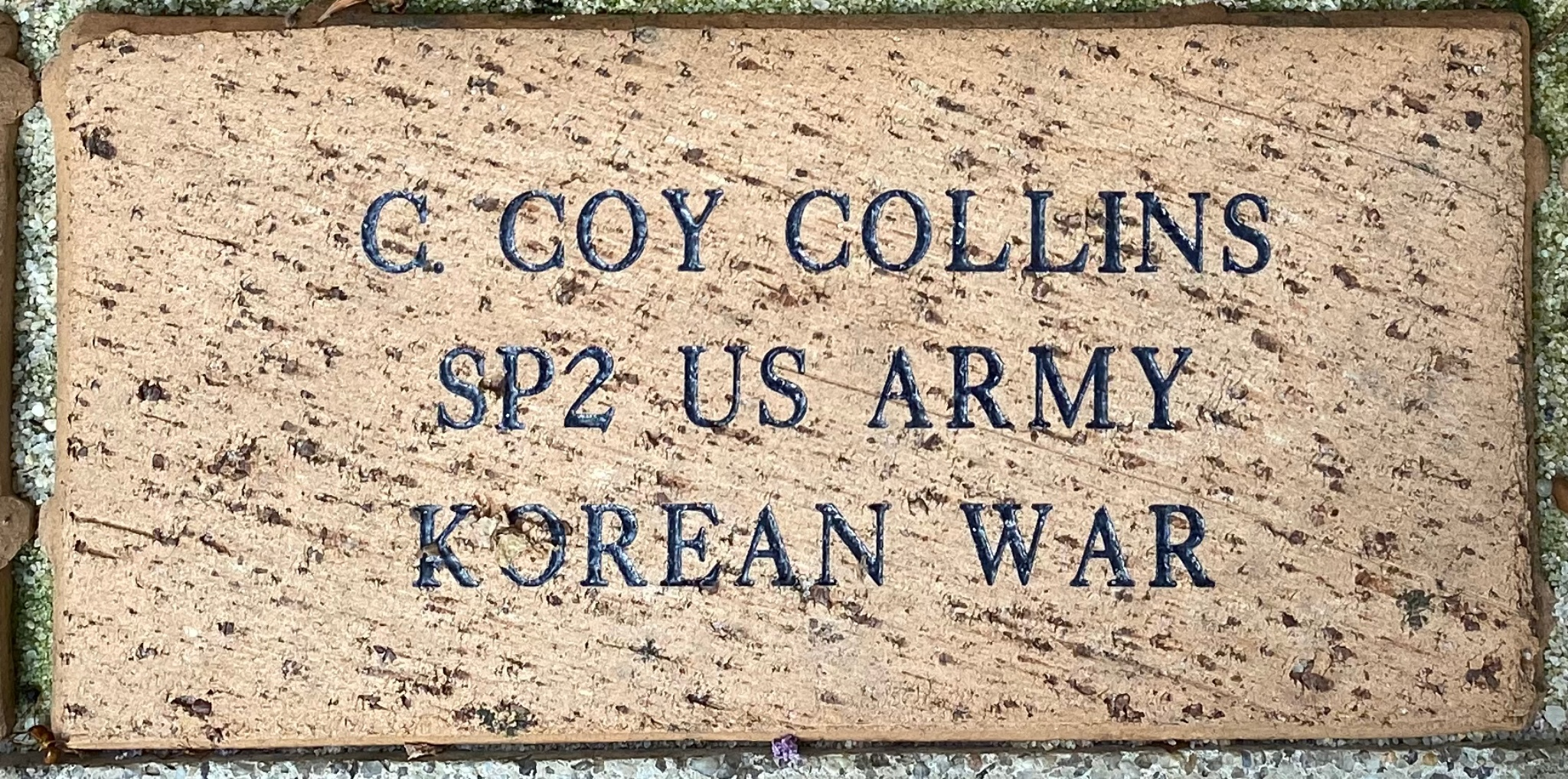 C. COY COLLINS SP2 US ARMY KOREAN WAR