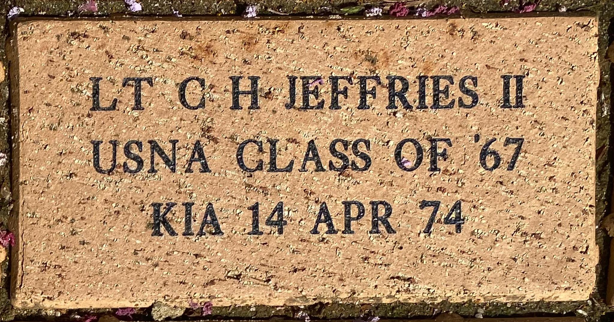 LT C H JEFFRIES II USNA CLASS OF '67 KIA 14 APR 74