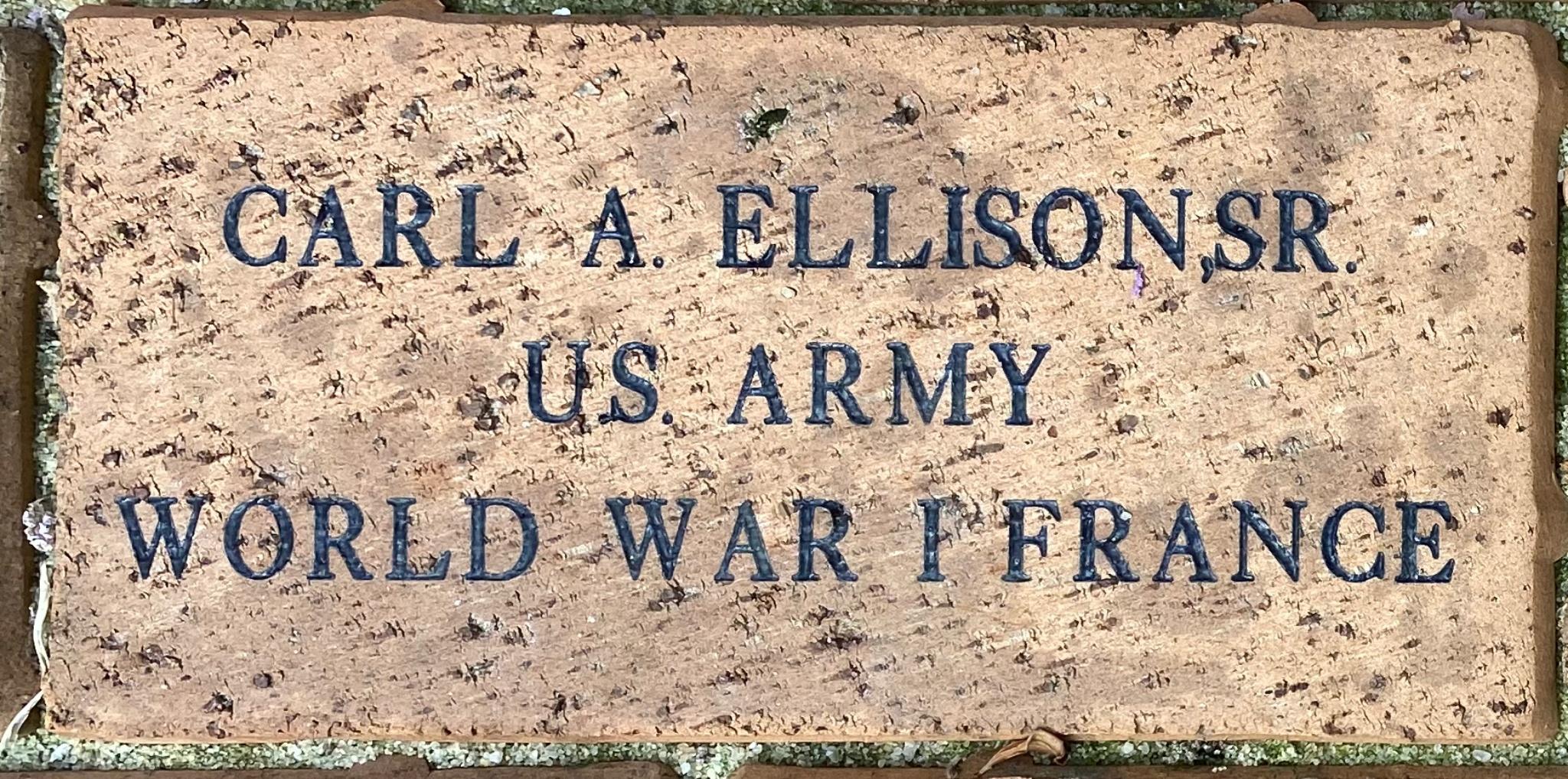 CARL A. ELLISON, SR. U.S. ARMY WORLD WAR I FRANCE