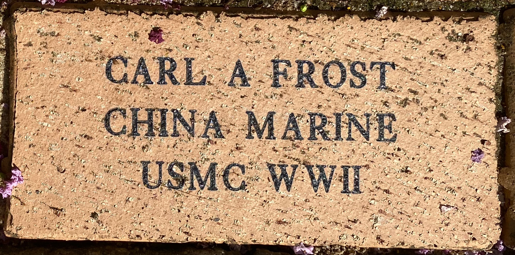 CARL A FROST CHINA MARINE USMC WWII