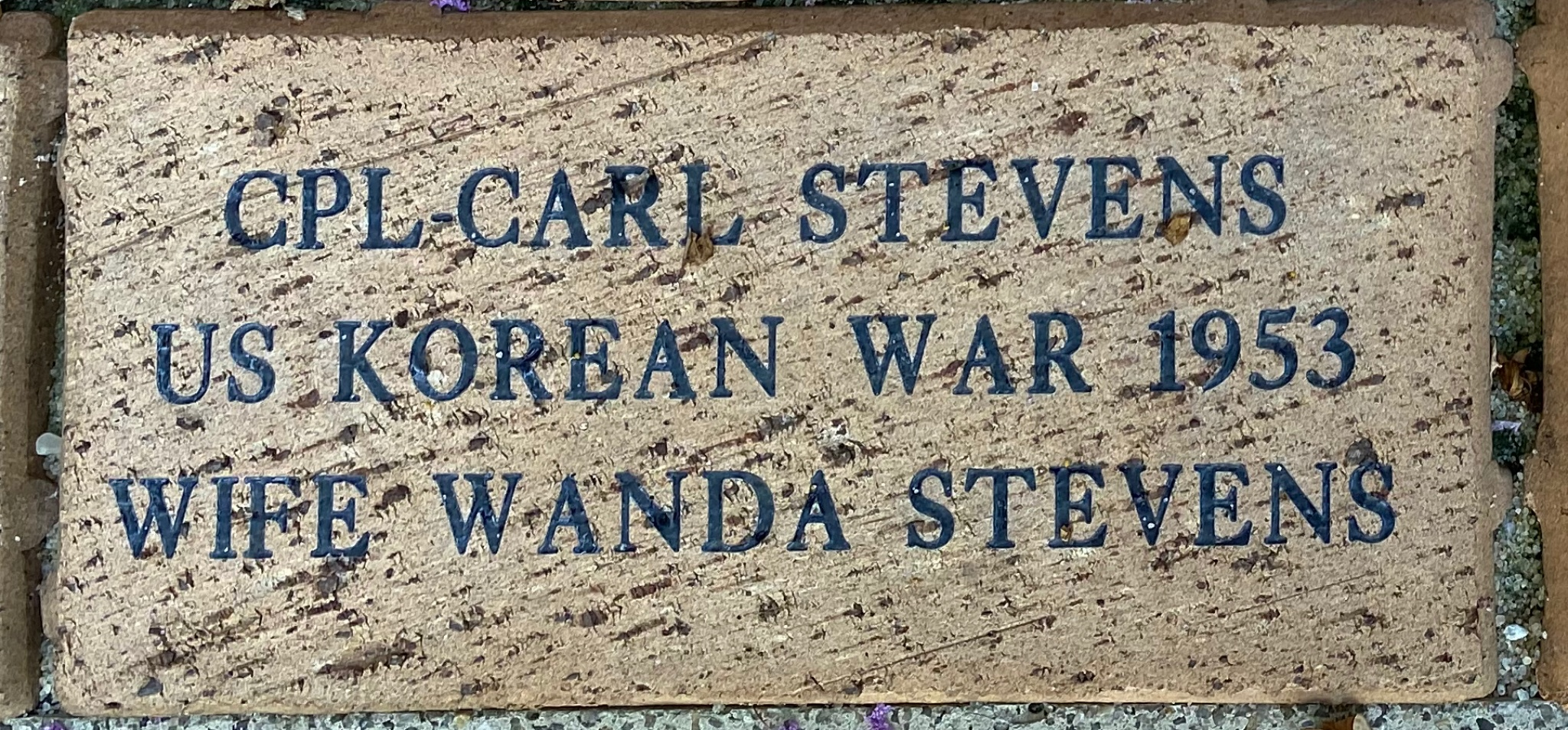 CPL-CARL STEVENS US KOREAN WAR 1953 WIFE WANDA STEVENS