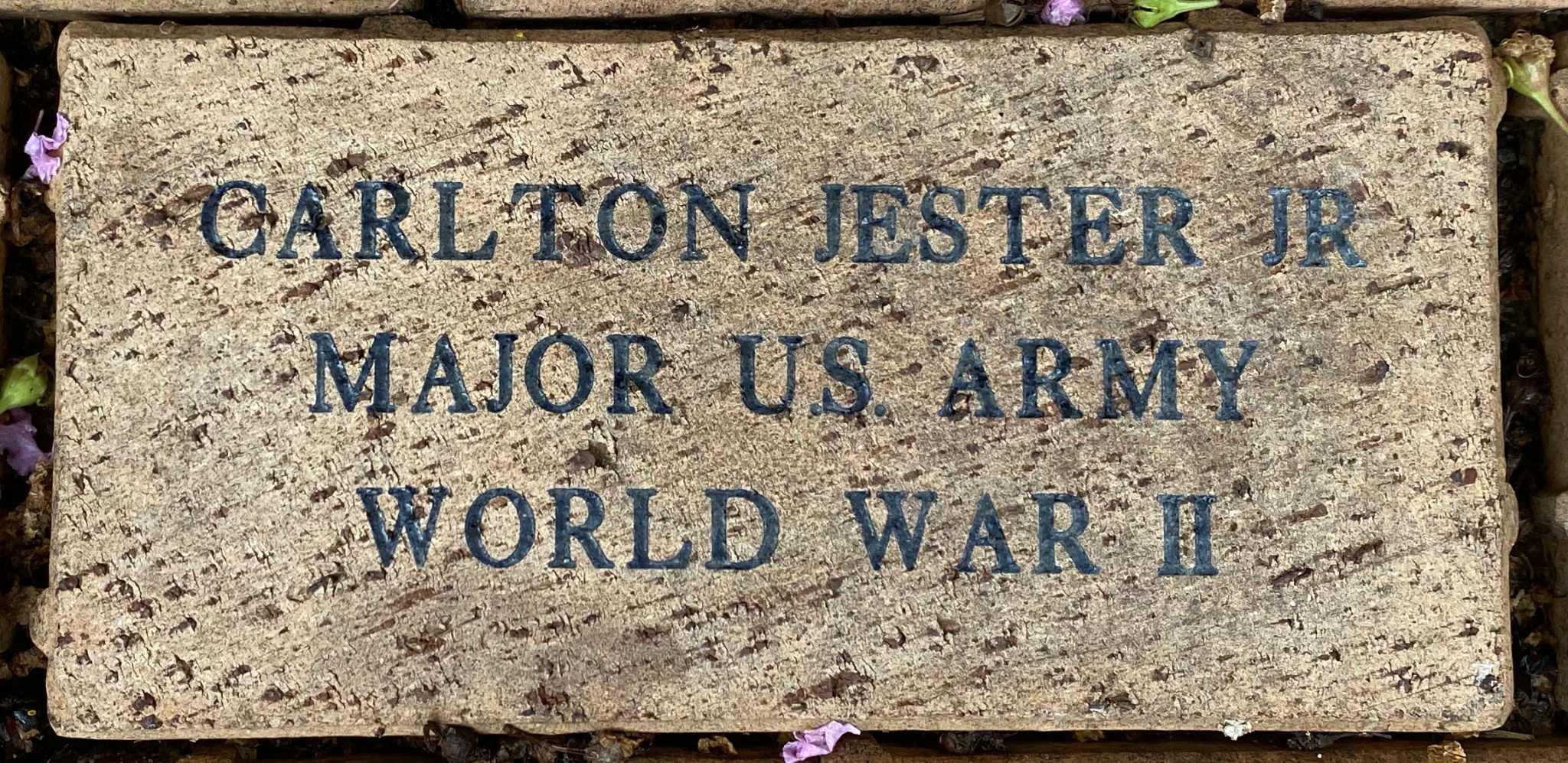 CARLTON JESTER JR. MAJOR U.S. ARMY WORLD WAR II