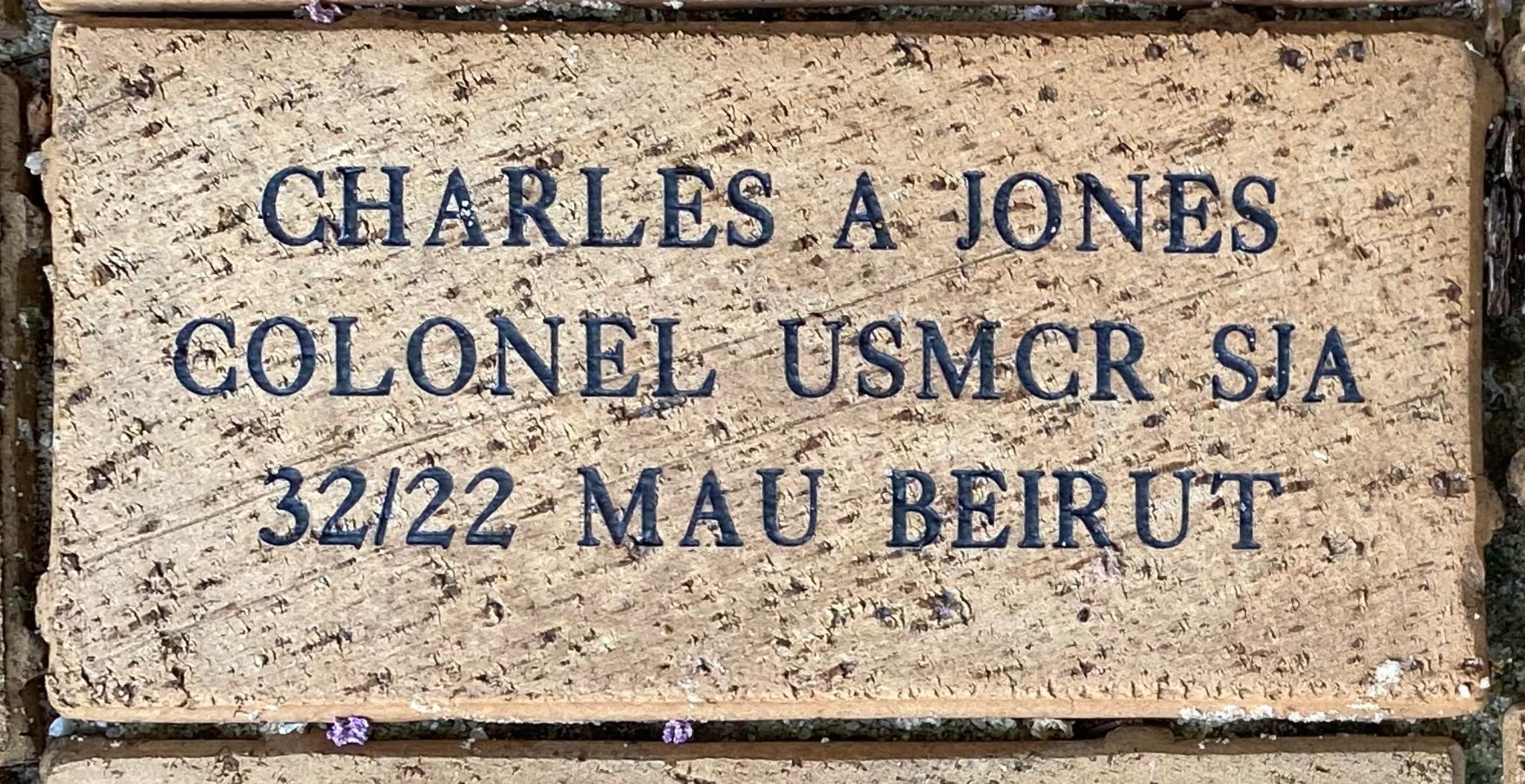 CHARLES A JONES COLONEL USMCR SJA 32/22 MAU BEIRUT